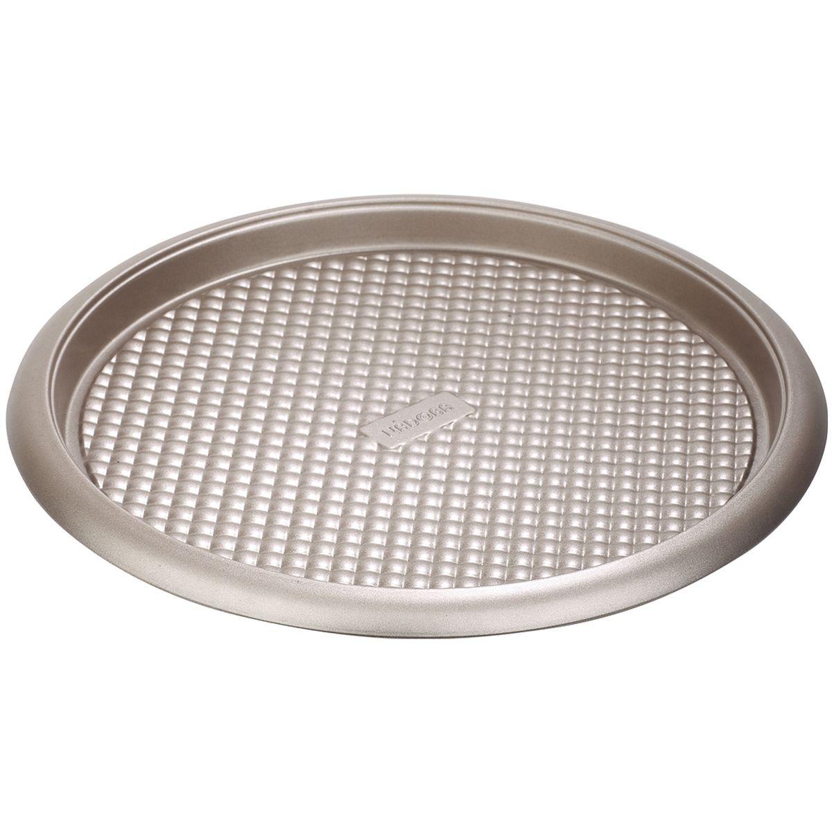 Форма круглая для пирога/пиццы Nadoba, стальная, антипригарная761018Высококачественная углеродистая сталь с усиленным безопасным антиприграным покрытием Quantum. Прочная конструкция благодаря удобным арочным бортам. Рабочая температура - до 230° С.