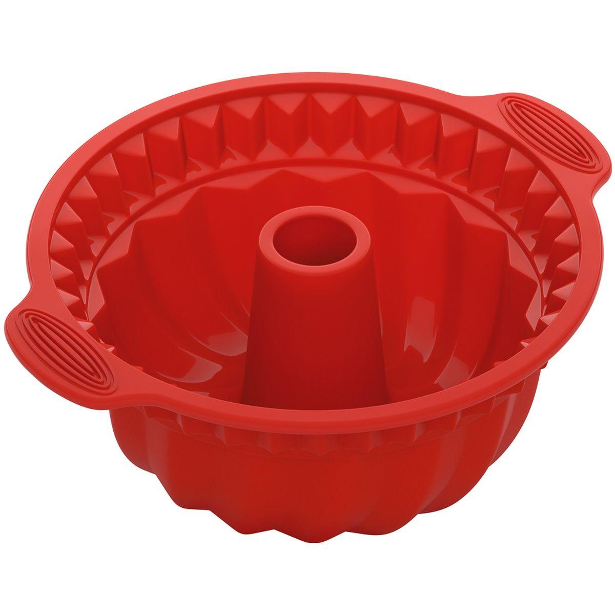 Форма Nadoba, для круглого кекса глубокая, силиконовая762019Высококачественный жаропрочный силикон, стандарт LFGB (Германия), не белеет. Рабочие температуры: от 40 до 230 °С. Выпечка легко вынимается и не пригорает. Формы легко моются и их удобно хранить в сложенном виде.