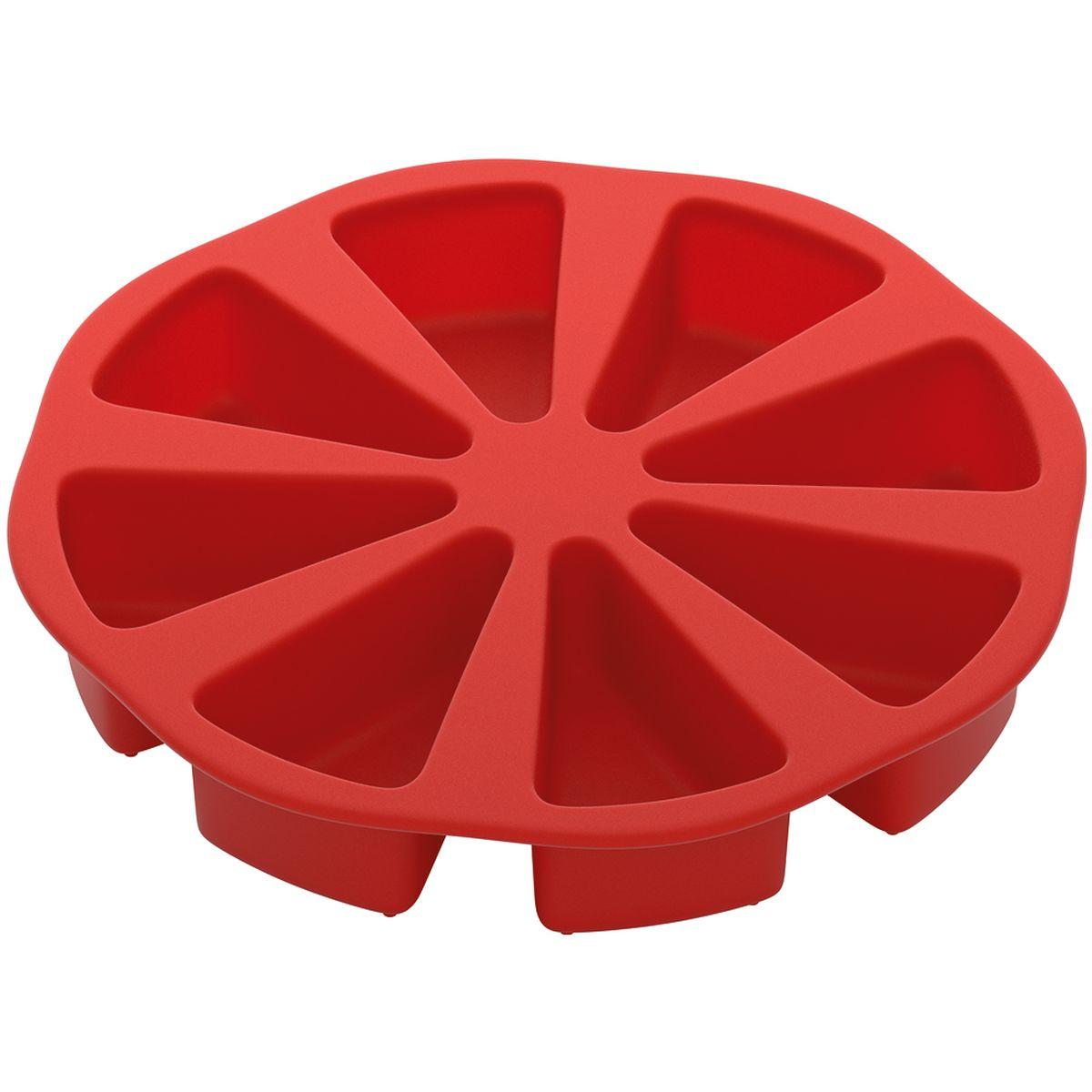 Форма для порционного торта Nadoba, силиконовая762024Высококачественный жаропрочный силикон, стандарт LFGB (Германия), не белеет. Рабочие температуры: от 40 до 230 °С. Выпечка легко вынимается и не пригорает. Формы легко моются и их удобно хранить в сложенном виде.