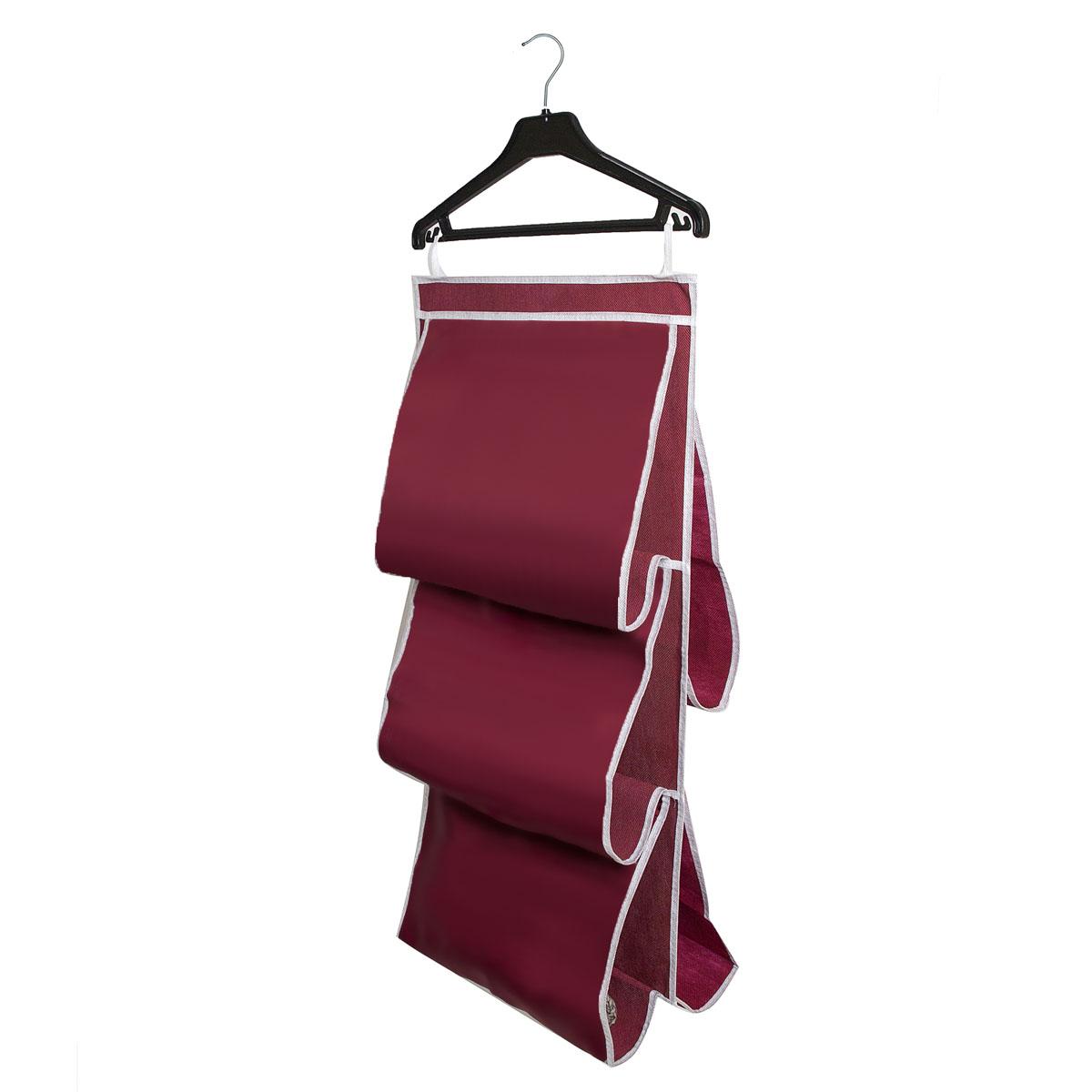 Органайзер для сумок Homsu Red Rose, 40 х 70 смHOM-09Подвесной двусторонний органайзер с 5 раздельными ячейками шириной 40см очень удобен для хранения вещей в вашем шкафу. Идеально для сумок, клатчей и других вещей ежедневного пользования. Фактический цвет может отличаться от заявленного.