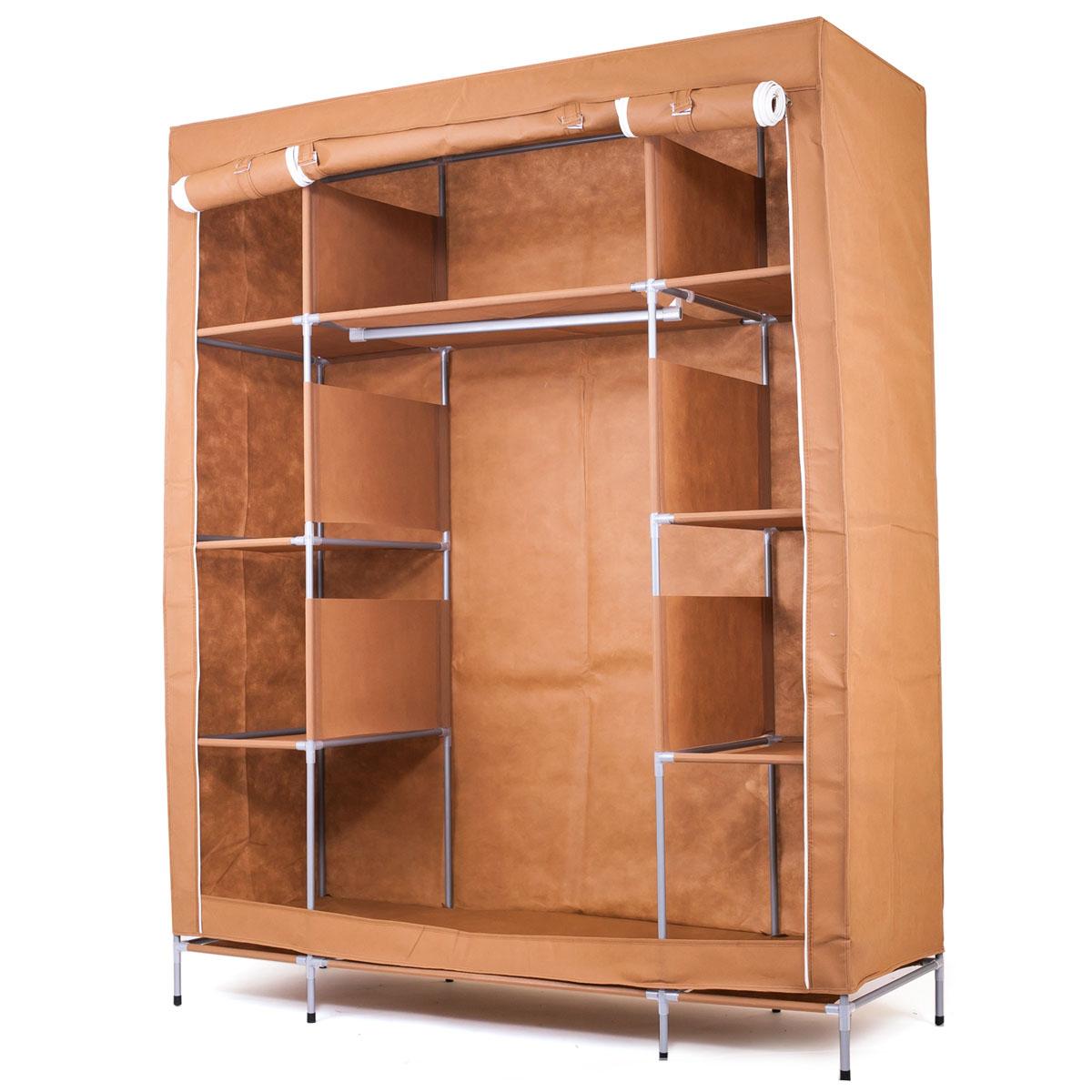 Шкаф тканевый Homsu Маджорити, 140 x 50 x 175 смHOM-105Этот большой тканевый шкаф будет максимально практичным и удобным помощником в создании полноценного порядка благодаря 8 маленьким полкам для складывания одежды 35см на 50см и 1 большой - 70см на 50см, а также отделению для подвешивания одежды высотой 120см и шириной 70см. Сборная конструкция такого шкафа состоит из металлических деталей каркаса, обтянутых сверху прочной и лёгкой тканью.Фактический цвет может отличаться от заявленного.