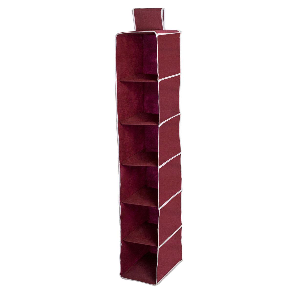 Органайзер подвесной Homsu Red Rose, 6 полок, 30 х 20 х 120 смHOM-16Подвесной органайзер Homsu Red Rose выполнен из прочного полиэстера - материала, который отличается прочностью, водоотталкивающими свойствами и практичностью. Изделие имеет 6 полок для хранения различных предметов, в том числе одежды, детских игрушек. Органайзер подвешивается к карнизу, рейлингу, стальным трубам и крепежам с помощью специальной петли. Размер полки: 30 х 20 см.