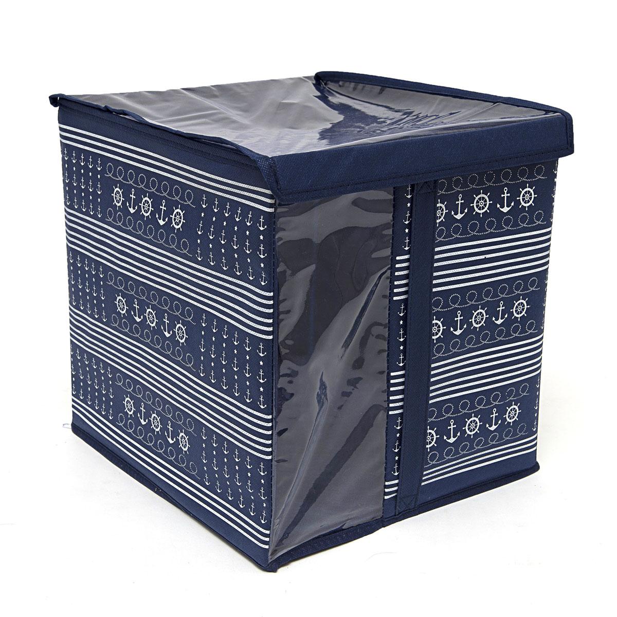 Кофр для хранения Homsu Ocean, с крышкой, 30 х 30 х 32 смHOM-226Кофр для хранения Homsu Ocean изготовлен из высококачественного нетканого полотна и ПВХ. Кофр имеет одно большое отделение, где вы можете хранить различные бытовые вещи, нижнее белье, одежду и многое другое. Вставки из картона обеспечивают прочность конструкции. Стильный принт, модный цвет и качество исполнения сделают такой кофр незаменимым для хранения ваших вещей.