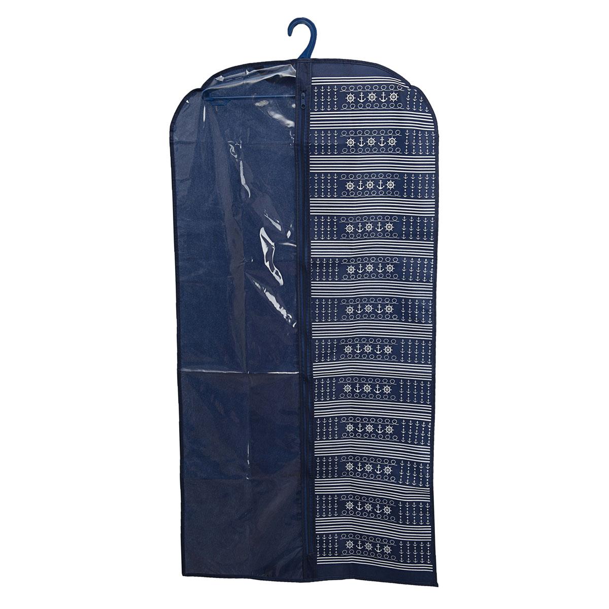 Чехол для одежды Homsu Ocean, подвесной, с прозрачной вставкой, 120 х 60 смHOM-228Подвесной чехол для одежды Homsu Ocean на застежке-молнии выполнен из высококачественного нетканого материала. Чехол снабжен прозрачной вставкой из ПВХ, что позволяет легко просматривать содержимое. Изделие подходит для длительного хранения вещей. Чехол обеспечит вашей одежде надежную защиту от влажности, повреждений и грязи при транспортировке, от запыления при хранении и проникновения моли. Чехол позволяет воздуху свободно поступать внутрь вещей, обеспечивая их кондиционирование. Это особенно важно при хранении кожаных и меховых изделий. Чехол для одежды Homsu Ocean создаст уютную атмосферу в гардеробе. Лаконичный дизайн придется по вкусу ценительницам эстетичного хранения и сделают вашу гардеробную изысканной и невероятно стильной. Размер чехла: 120 х 60 см.
