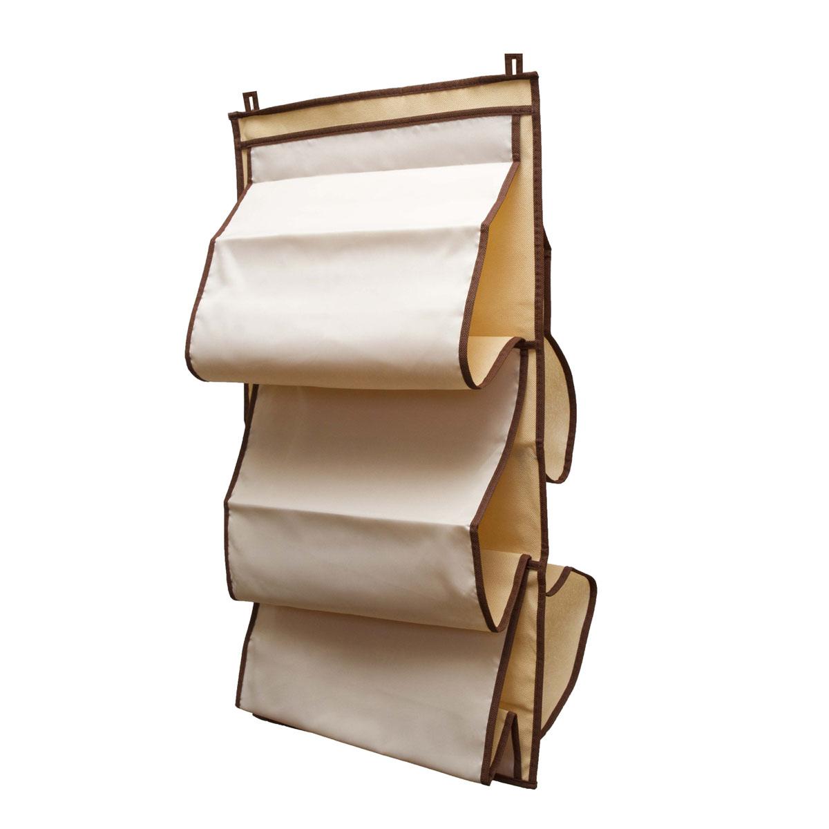 Органайзер для сумок Homsu Bora-Bora, 5 отделений, 40 х 70 смHOM-24Органайзер для хранения сумок Homsu Bora-Bora изготовлен из полиэстера. Изделие имеет 5 отделений, его можно повесить в удобное место за крючки. Такой компактный и удобный в каждодневном использовании аксессуар, как этот органайзер, размещающийся в пространстве шкафа, на плоскости стены или дверей. Практичный и удобный органайзер для хранения сумок. Размер чехла: 40 х 70 см.
