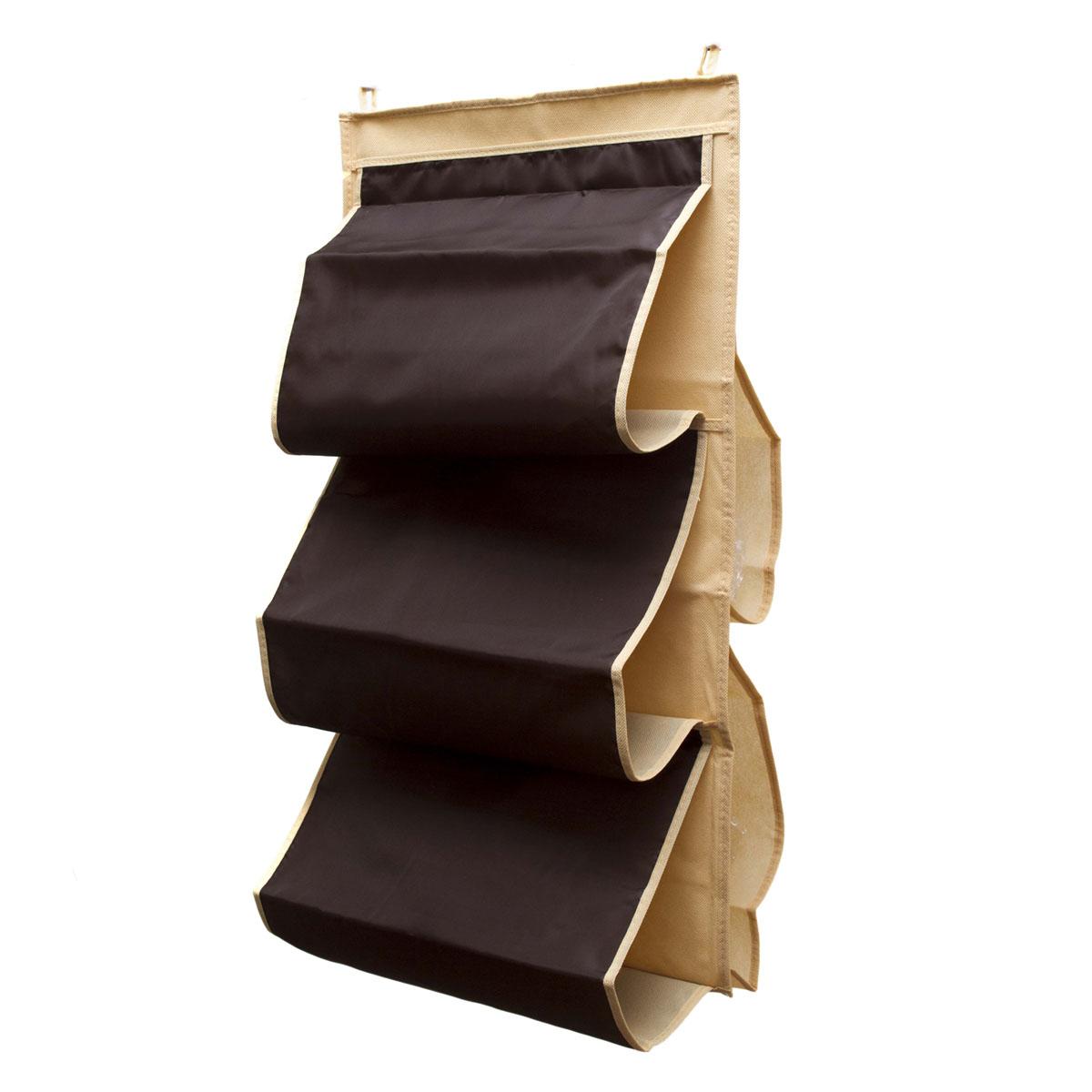 Органайзер для сумок Homsu Costa-Rica, 5 отделений, 40 х 70 смHOM-41Органайзер для хранения сумок Homsu Costa-Rica изготовлен из полиэстера. Изделие имеет 5 отделений, его можно повесить в удобное место за крючки. Такой компактный и удобный в каждодневном использовании аксессуар, как этот органайзер, размещающийся в пространстве шкафа, на плоскости стены или дверей. Практичный и удобный органайзер для хранения сумок. Размер чехла: 40 х 70 см.