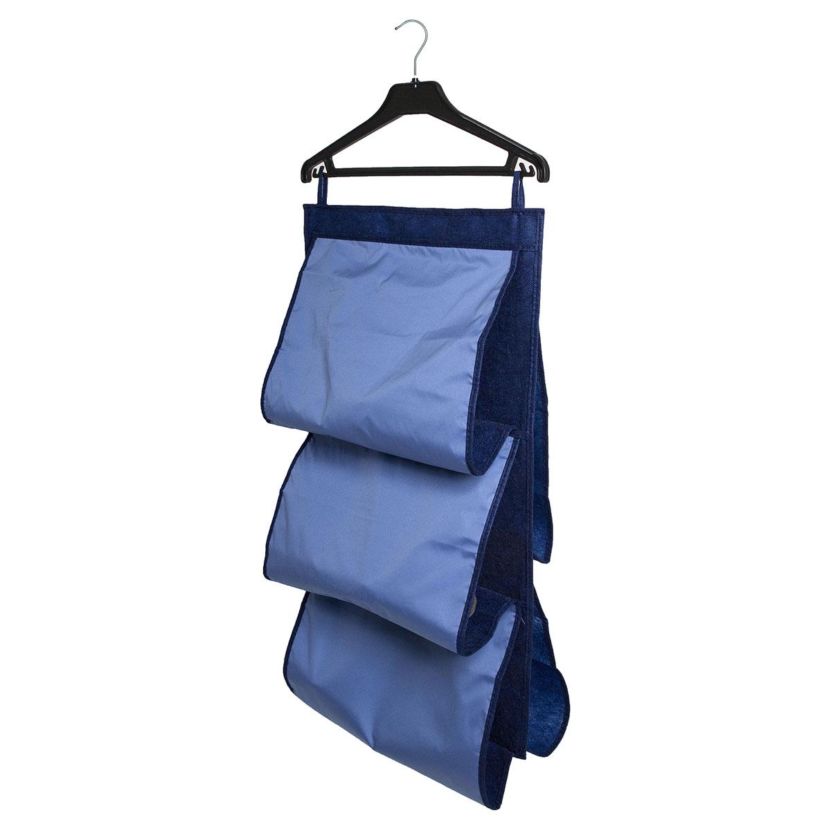 Органайзер для сумок Homsu Bluе Sky, 5 отделений, 40 х 70 смHOM-49Органайзер для хранения сумок Homsu Bluе Sky изготовлен из полиэстера. Изделие имеет 5 отделений, его можно повесить в удобное место за крючки. Такой компактный и удобный в каждодневном использовании аксессуар, как этот органайзер, размещающийся в пространстве шкафа, на плоскости стены или дверей. Практичный и удобный органайзер для хранения сумок. Размер чехла: 40 х 70 см.