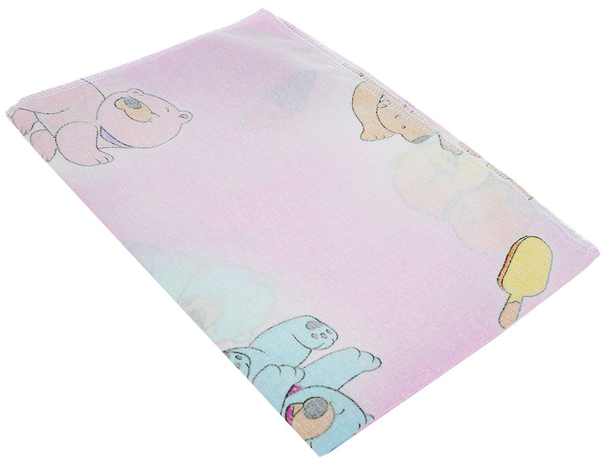 Фея Наволочка детская Мишки и мороженое 40 см х 60 см ( 0001056-2_мишки, мороженое, розовый )