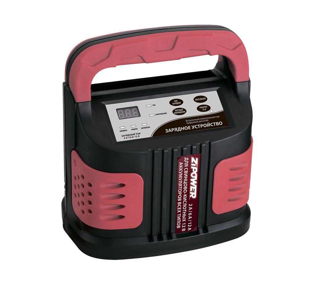 Устройство зарядное Zipower, со встроенным микропроцессором и цифровым дисплеем. PM 6512PM 6512Зарядное устройство Zipower для автомобильного аккумулятора предназначено для обслуживания и зарядки 12-вольтовых аккумуляторных батарей, используемых в легковых автомобилях и мотоциклах. Данная модель имеет защиту от перегрева и неправильного подключения. Зарядное устройство для автомобильного аккумулятора работает в автоматическом режиме (самостоятельно определяет уровень зарядки батареи и уменьшает ток на финишном этапе). Подходит для зарядки полностью разряженных аккумуляторов. Электронная защита от короткого замыкания гарантирует долгий срок службы устройства. Небольшие габариты и малый вес обеспечивают удобство использования. Интуитивно понятная панель управления оснащена цифровой индикацией тока зарядки и напряжения аккумулятора. Устройство имеет 9-ступенчатую интеллектуальную программу зарядки. Можно заряжать различные типы аккумуляторов (AGM, GEL, WET). Особенности устройства: Защита от неправильной полярности. 3 ступени регулировки тока зарядки 2–12 А. ...