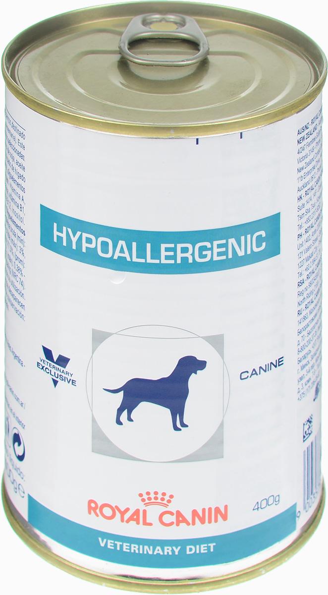 Консервы для собак Royal Canin Hypoallergenic, при пищевой аллергии и непереносимости, 400 г44903Royal Canin Hypoallergenic - полнорационный диетический корм для собак, применяемый при пищевой аллергии или непереносимости некоторых ингредиентов и нутриентов. Специально подобранные источники белков и углеводов. Показания: - исключающая диета; - аллергия алиментарной природы, проявляющаяся нарушениями со стороны кожного покрова и/или пищеварительного тракта; - пищевая непереносимость; - хроническое воспаление кишечника; - экзокринная недостаточность поджелудочной железы; - хроническая диарея; - пролиферация бактерий в тонком кишечнике. Противопоказания: - беременность, лактация, рост. Гидролизат соевого белка, состоящий из пептидов с небольшой молекулярной массой, обладает высокой усвояемостью и гипоаллергенным действием. Сочетание инозитола, пантотеновой кислоты, ниацина, холина, гистидина усиливает защитные функции кожи и предотвращает ее излишнюю сухость. Комплекс антиоксидантов...