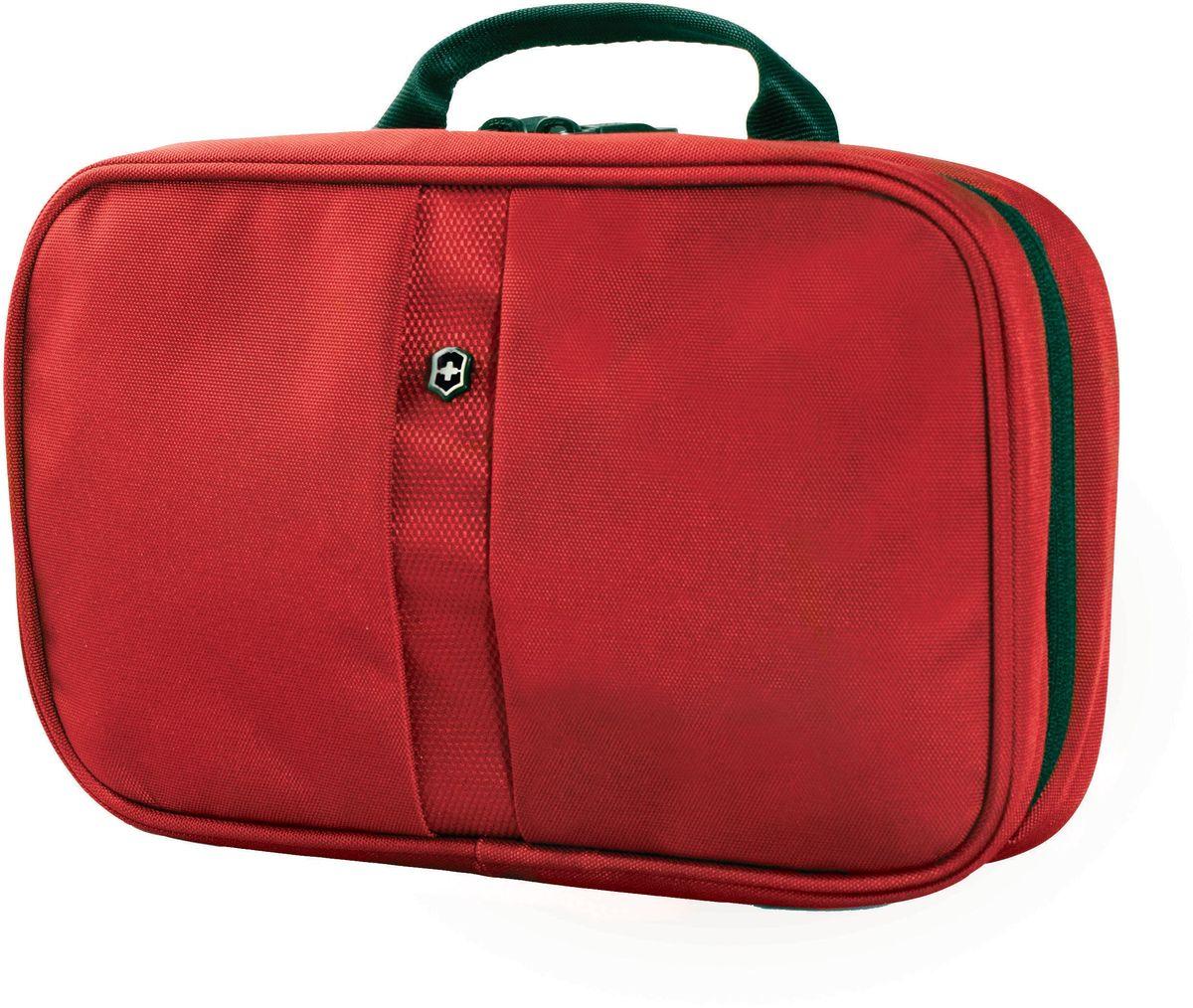 Несессер Victorinox Zip-Around Travel Kit, цвет: красный. 3117320331173203Оригинальный швейцарский армейский нож «Swiss Army» был создан в 1897 году в небольшой деревушке Ибах в Швейцарии.С тех пор продукция,выпускаемая под маркой «Victorinox» с ее узнаваемым логотипом в виде креста на щите,по праву считается эталоном отличного качества,высокой функциональности,инновационных технологий и культового дизайна.Наша преданность принципам в течение последних 130 лет позволила нам создавать продукты,которые являются выдающимися не только по дизайну и качеству,но которые также являются надежными спутниками в больших и маленьких жизненных приключениях. Сегодня мы с гордостью представляем линейку сумок,чемоданов и дорожных аксессуаров,которые наилучшим образом воплощают в себе данные принципы,а также сочетают в себе черты нашего лучшего классического стиля. Коллекция Lifestyle Accessories 4.0 включает в себя широкий ассортимент решений для путешествий и повседневной жизни.Независимо от пункта назначения данные высоко-практичные аксессуары станут...