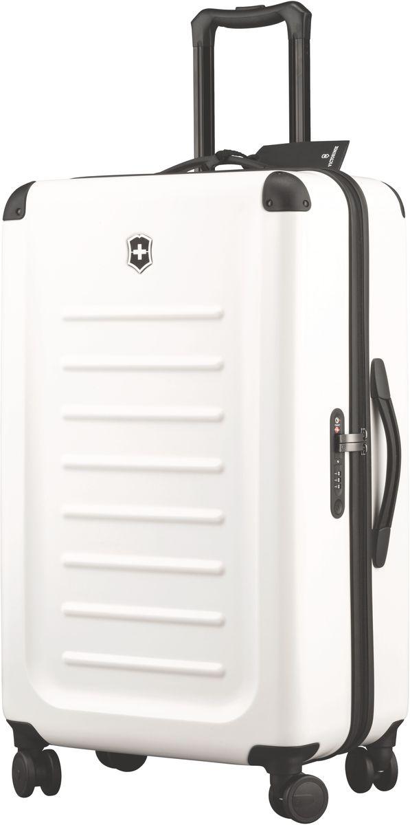 Чемодан Victorinox Spectra, цвет: белый. 3131850231318502Оригинальный швейцарский армейский нож «Swiss Army» был создан в 1897 году в небольшой деревушке Ибах в Швейцарии.С тех пор продукция,выпускаемая под маркой «Victorinox» с ее узнаваемым логотипом в виде креста на щите,по праву считается эталоном отличного качества,высокой функциональности,инновационных технологий и культового дизайна.Наша преданность принципам в течение последних 130 лет позволила нам создавать продукты,которые являются выдающимися не только по дизайну и качеству,но которые также являются надежными спутниками в больших и маленьких жизненных приключениях. Сегодня мы с гордостью представляем линейку сумок,чемоданов и дорожных аксессуаров,которые наилучшим образом воплощают в себе данные принципы,а также сочетают в себе черты нашего лучшего классического стиля. Victorinox привносит инновации в жесткие чемоданы коолекции Spectra 2.0.Специально разработанные для того,чтобы путешестия с жесткими чемоданами были удобнее,изысканные,стильные модели для ручной...
