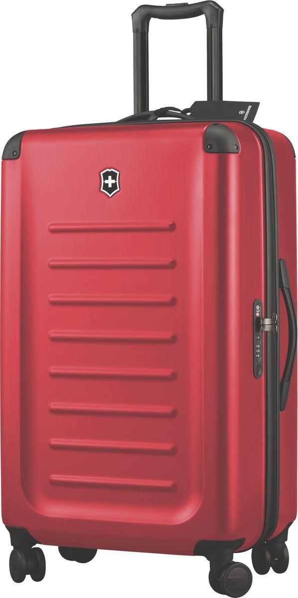Чемодан Victorinox Spectra, цвет: красный. 3131850331318503Оригинальный швейцарский армейский нож «Swiss Army» был создан в 1897 году в небольшой деревушке Ибах в Швейцарии.С тех пор продукция,выпускаемая под маркой «Victorinox» с ее узнаваемым логотипом в виде креста на щите,по праву считается эталоном отличного качества,высокой функциональности,инновационных технологий и культового дизайна.Наша преданность принципам в течение последних 130 лет позволила нам создавать продукты,которые являются выдающимися не только по дизайну и качеству,но которые также являются надежными спутниками в больших и маленьких жизненных приключениях. Сегодня мы с гордостью представляем линейку сумок,чемоданов и дорожных аксессуаров,которые наилучшим образом воплощают в себе данные принципы,а также сочетают в себе черты нашего лучшего классического стиля. м Victorinox привносит инновации в жесткие чемоданы коолекции Spectra 2.0.Специально разработанные для того,чтобы путешестия с жесткими чемоданами были удобнее,изысканные,стильные модели для ручной...