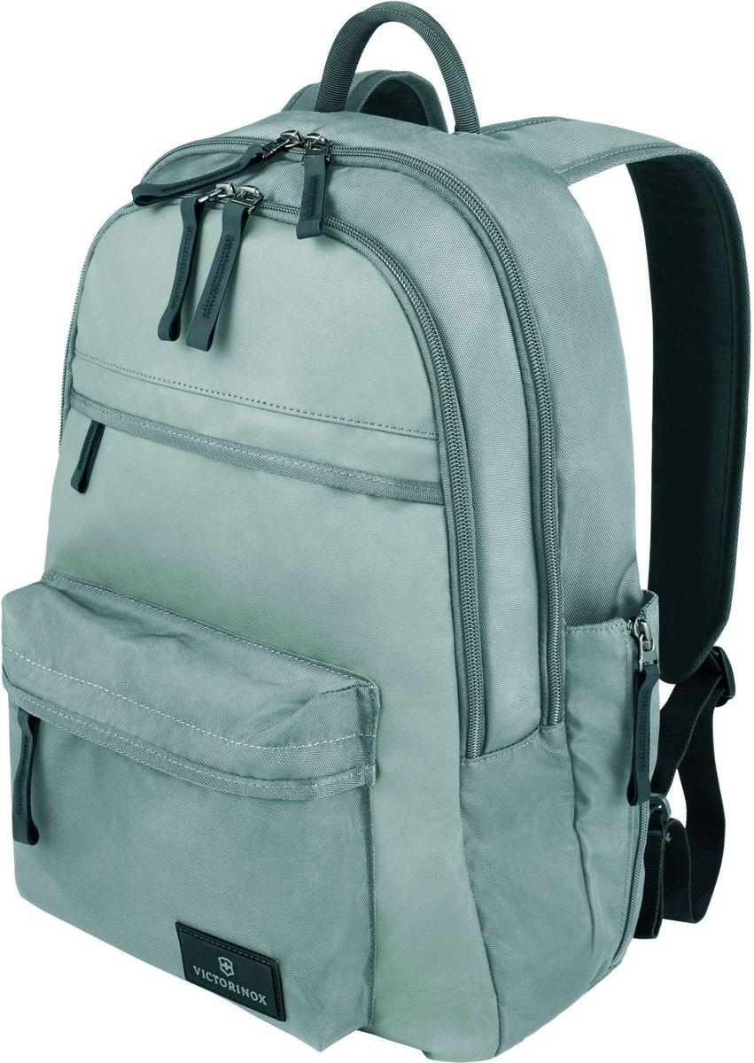 Рюкзак Victorinox Altmont 3.0 Standard Backpack, цвет: серый. 3238840432388404Оригинальный швейцарский армейский нож «Swiss Army» был создан в 1897 году в небольшой деревушке Ибах в Швейцарии.С тех пор продукция,выпускаемая под маркой «Victorinox» с ее узнаваемым логотипом в виде креста на щите,по праву считается эталоном отличного качества,высокой функциональности,инновационных технологий и культового дизайна.Наша преданность принципам в течение последних 130 лет позволила нам создавать продукты,которые являются выдающимися не только по дизайну и качеству,но которые также являются надежными спутниками в больших и маленьких жизненных приключениях. Сегодня мы с гордостью представляем линейку сумок,чемоданов и дорожных аксессуаров,которые наилучшим образом воплощают в себе данные принципы,а также сочетают в себе черты нашего лучшего классического стиля. Индивидуальность-это то,что отличает вас от любого другого человека,с которым вы сталкиваетесь на улице,в поезде,с которым вы общаетесь в городе.Каждый день вашей жизни — это уникальный опыт,который...