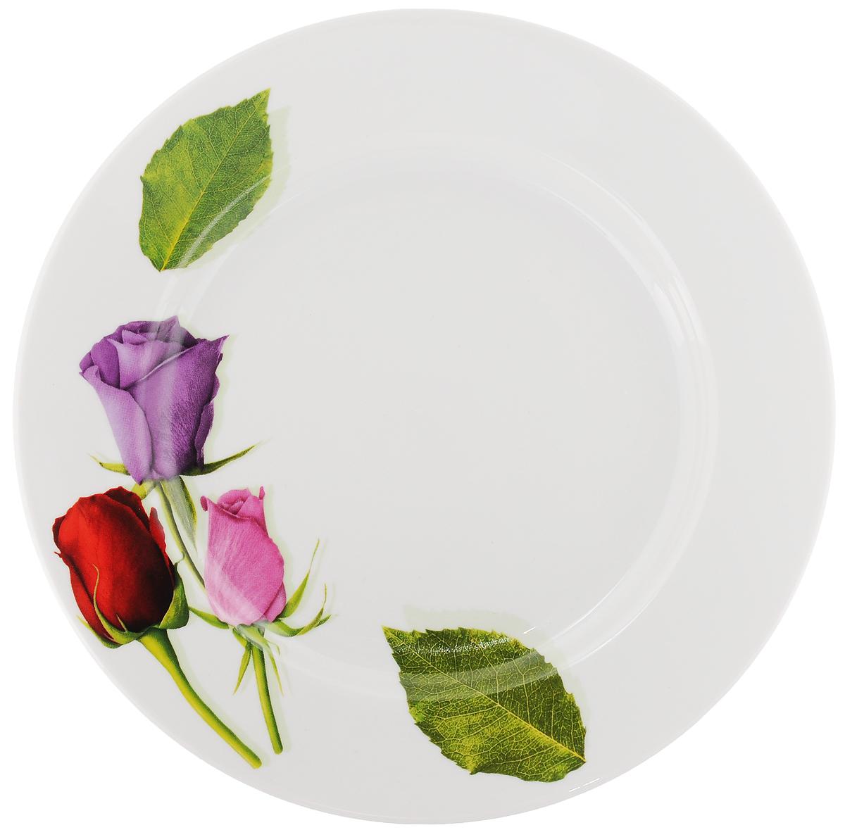 "Тарелка ""Идиллия. Королева цветов"", диаметр 24 см"