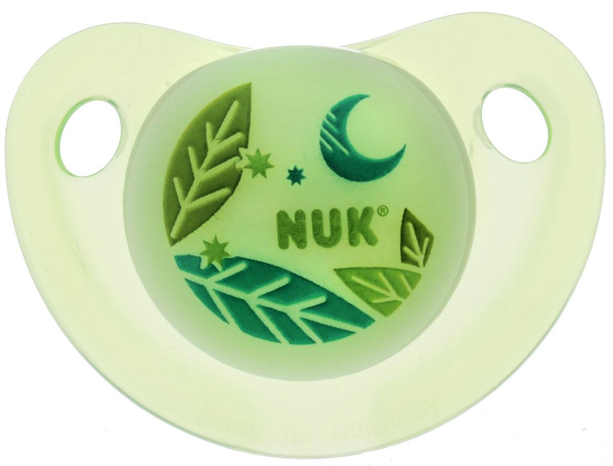 NUK Пустышка силиконовая ортодонтическая Месяц от 18 до 36 месяцев цвет салатовый