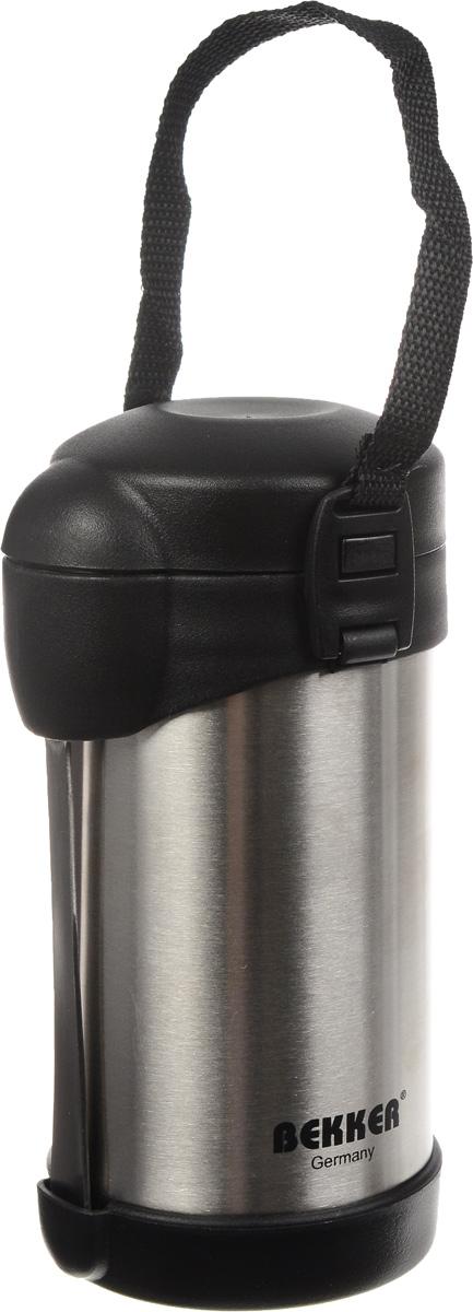 Термос Bekker Koch, с контейнерами, 500 мл. BK-43BK-43Пищевой термос с широким горлом Bekker Koch, изготовленный из высококачественной нержавеющей стали 18/8, является простым в использовании, экономичным и многофункциональным. Изделие с двойными стенками оснащено двумя небольшими контейнерами, ложкой и специальным ремнем для удобной переноски термоса. Термос с широким горлом предназначен для хранения горячей и холодной пищи, замороженных продуктов, мороженного, фруктов и льда и укомплектован вакуумной крышкой без кнопки. Такая крышка надежна, проста в использовании и позволяет дольше сохранять тепло благодаря дополнительной теплоизоляции. Легкий и прочный термос Bekker Koch сохранит ваши напитки и продукты горячими или холодными надолго.