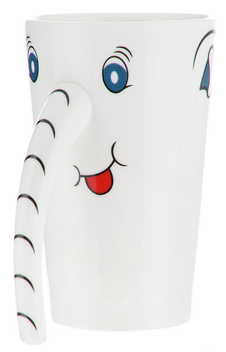 Кружка Lillo Слоник, 300 мл1011Яркая кружка Lillo Слоник, изготовленная из высококачественной керамики, имеет изящную форму. Такая кружка придется по вкусу ценителям утонченности и изысканности. Кружка послужит не только приятным подарком, но и практичным сувениром. Диаметр (по верхнему краю): 7,5 см.