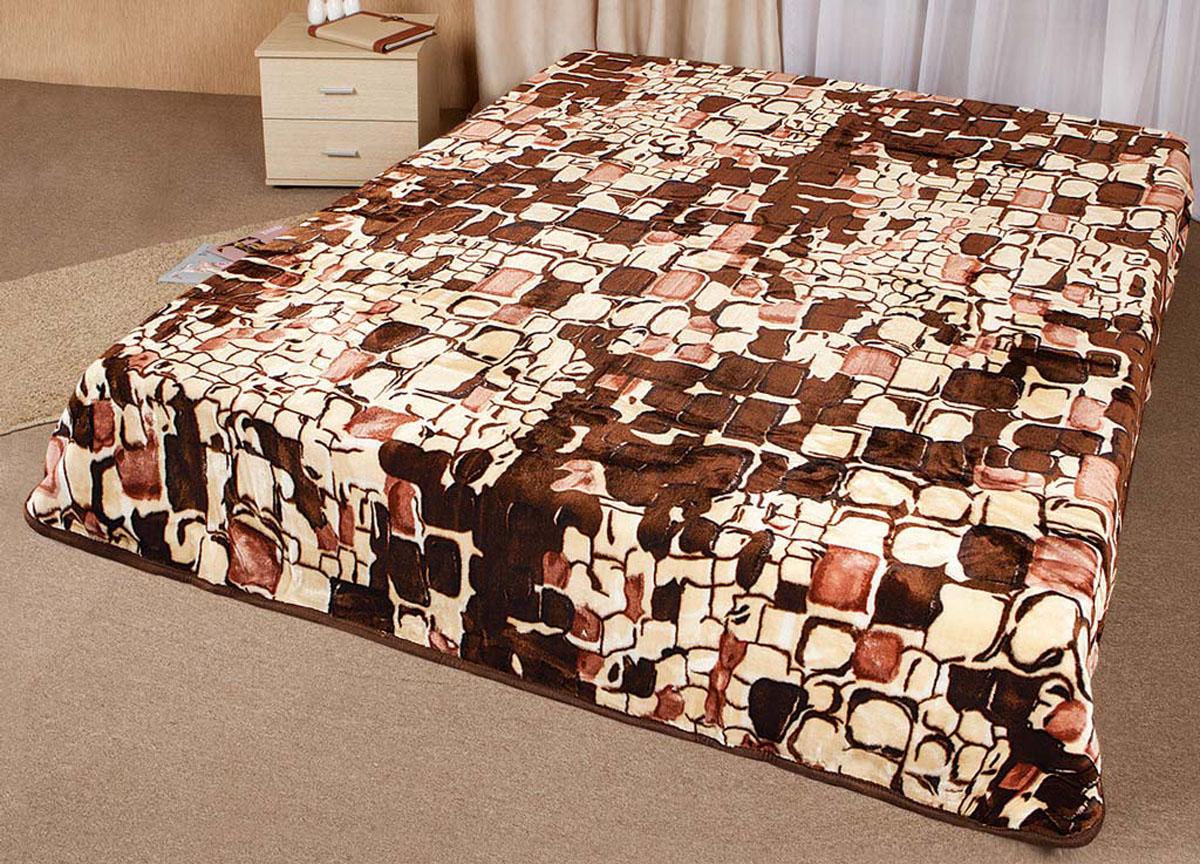 Плед Tamerlan, нестриженый, цвет: коричневый, 200 х 240 см. 5982459824плотность 500 гр/м2