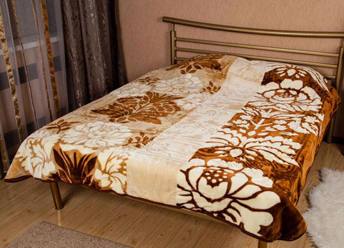 Плед Tamerlan, нестриженый, цвет: коричневый, 200 х 240 см. 6047560475плотность 665 гр/м2