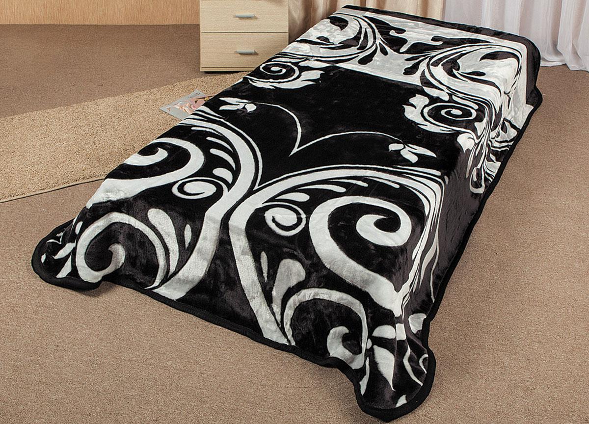 Плед Tamerlan, стриженый, цвет: черный, белый, 160 х 220 см. 6433564335плотность 600 гр/м2