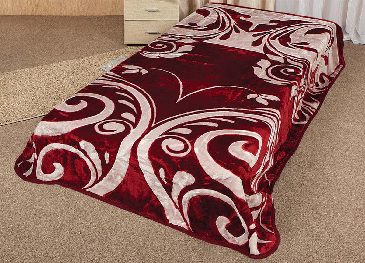 Плед Tamerlan, нестриженый, цвет: красный, розовый, 200 х 240 см. 6433964339плотность 500 гр/м2
