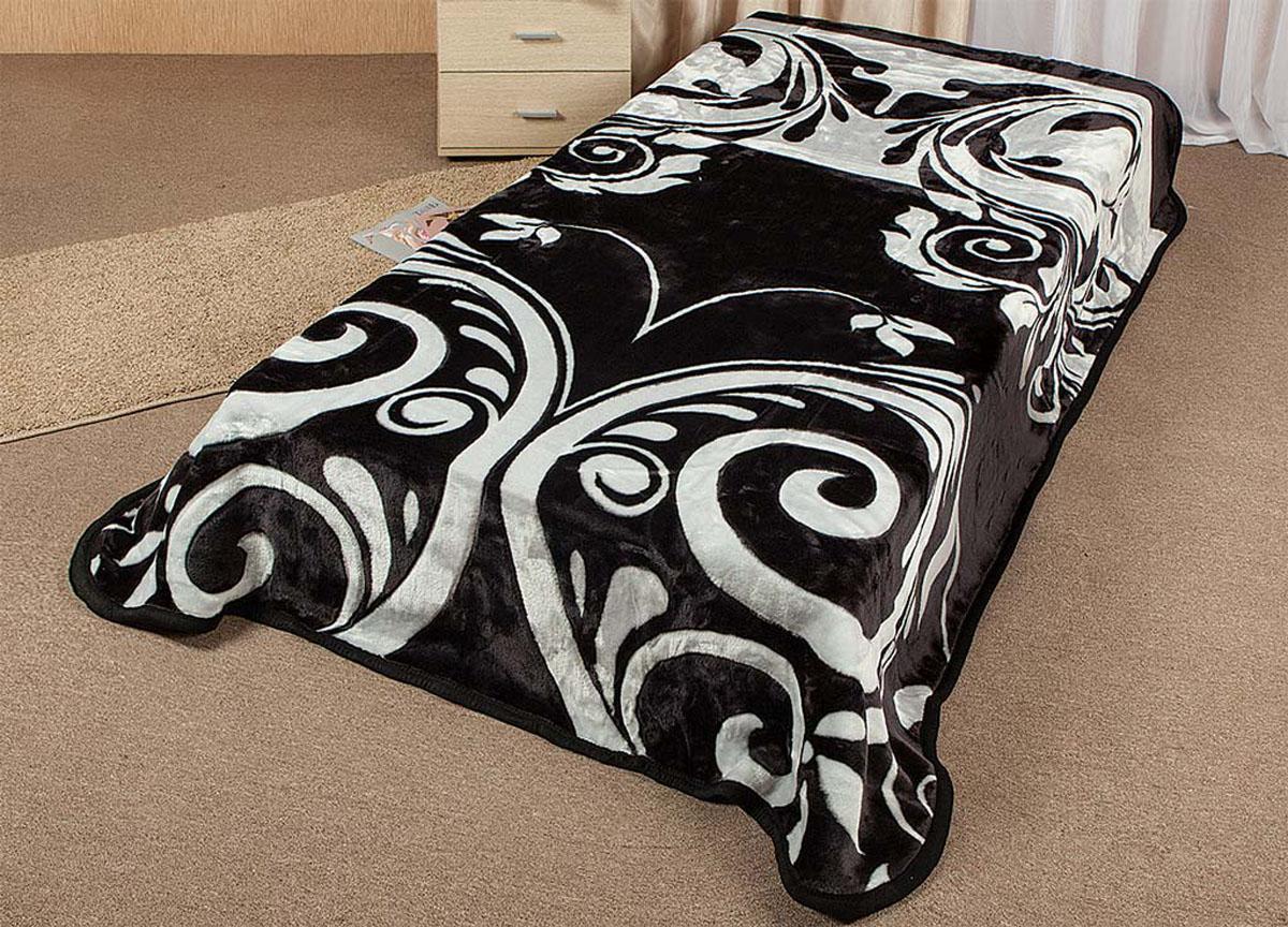 Плед Tamerlan, нестриженый, цвет: черный, серый, 200 х 240 см. 6434164341плотность 500 гр/м2