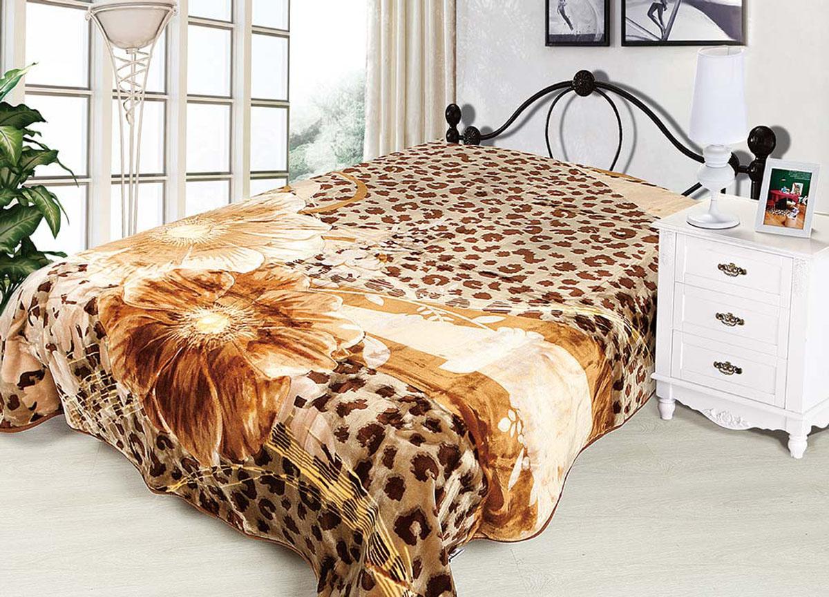 Плед Tamerlan, стриженый, цвет: коричневый, 200 х 240 см. 6884668846плотность 625 гр/м2