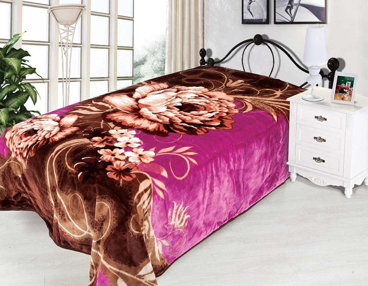 Плед Tamerlan, нестриженый, цвет: фиолетовый, коричневый, 200 х 240 см. 7037670376плотность 500 гр/м2