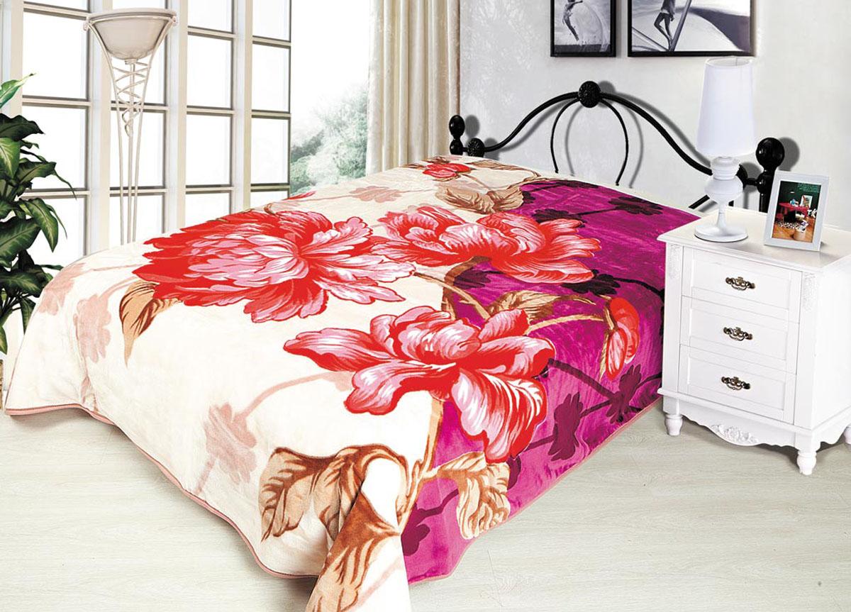 Плед Tamerlan, стриженый, цвет: розовый, фиолетовый, 160 х 220 см. 7043570435плотность 600 гр/м2