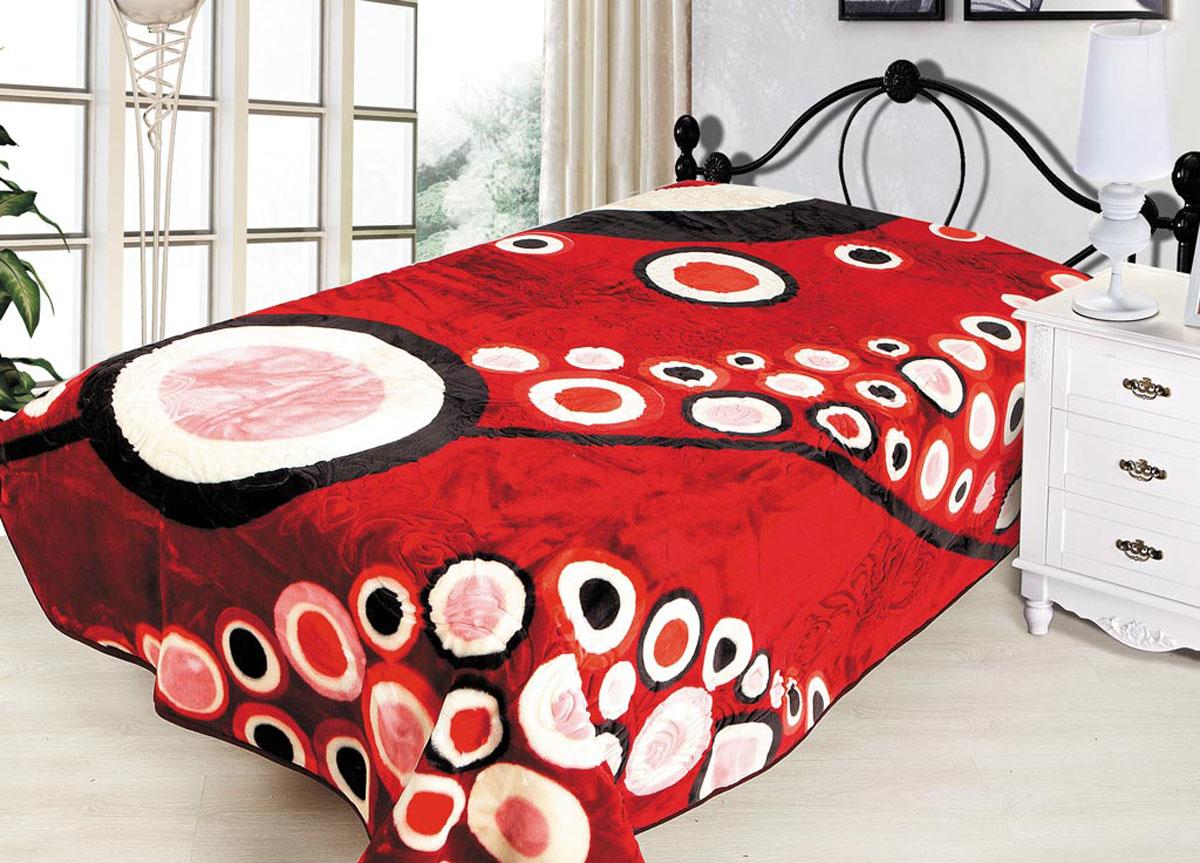 Плед Tamerlan, тисненый, цвет: красный, 200 х 240 см. 7046470464плотность 665 гр/м2
