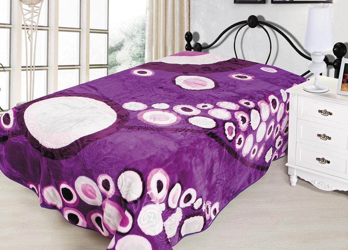 Плед Tamerlan, тисненый, цвет: фиолетовый, 200 х 240 см. 7046570465плотность 665 гр/м2