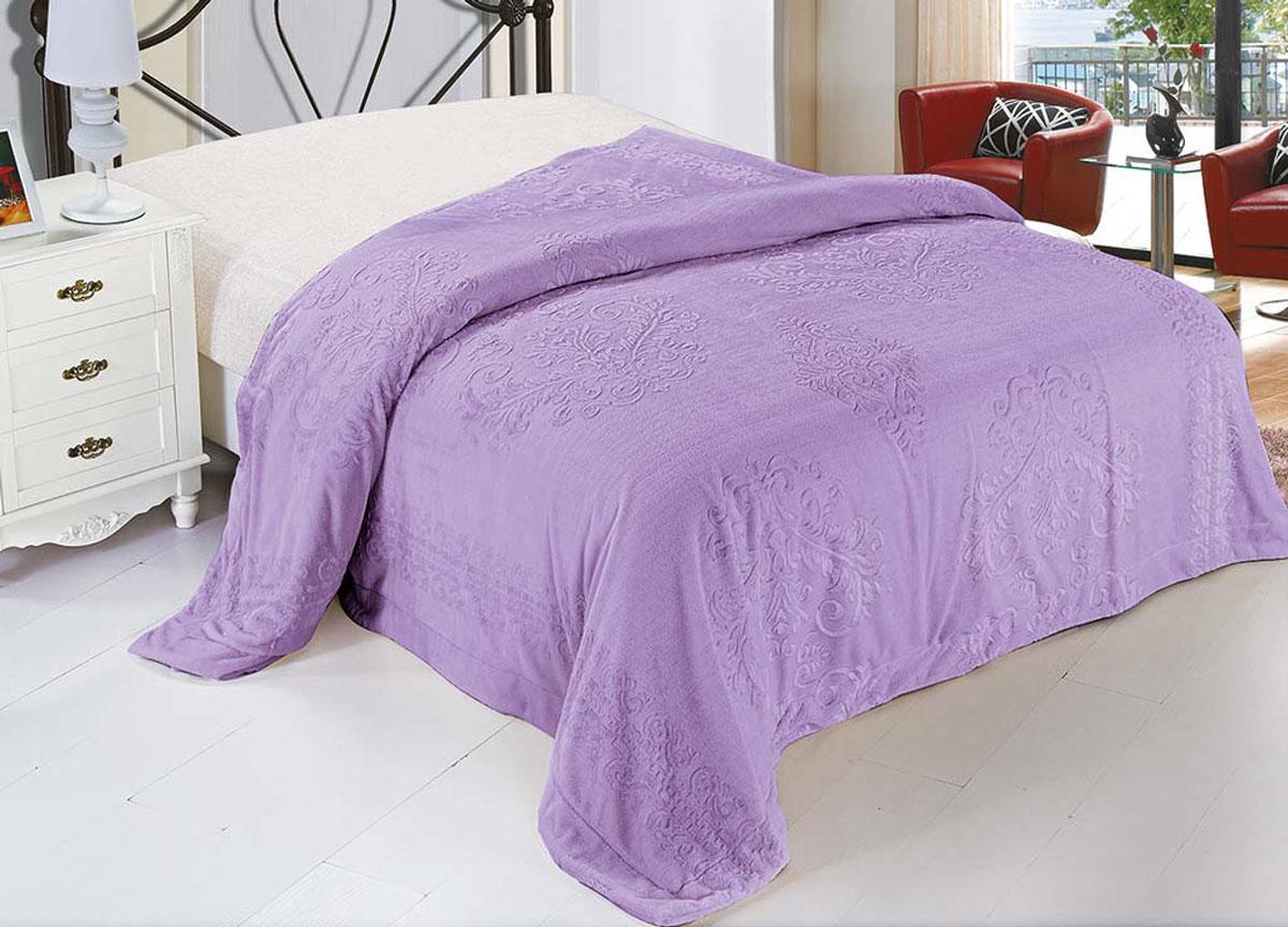 Плед Ameli, стриженый, цвет: фиолетовый, 220 х 240 см. 7179771797плотность 530 гр/м2