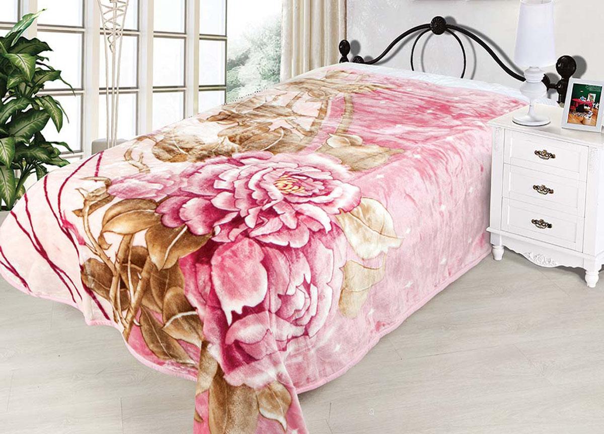 Плед Tamerlan, нестриженый, цвет: розовый, коричневый, 160 х 210 см. 7449274492плотность 510 гр/м2