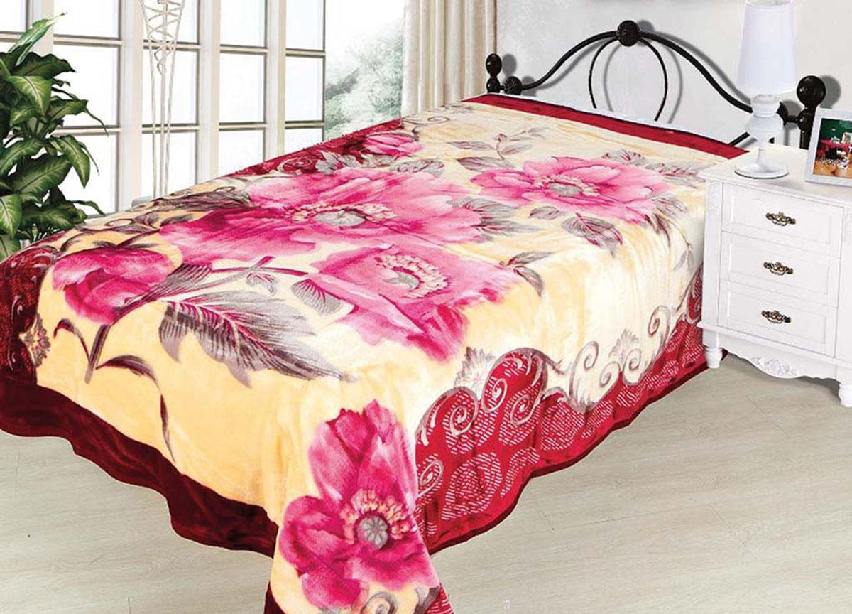 Плед Tamerlan, нестриженый, цвет: желтый, розовый, 200 х 240 см. 7450474504плотность 500 гр/м2