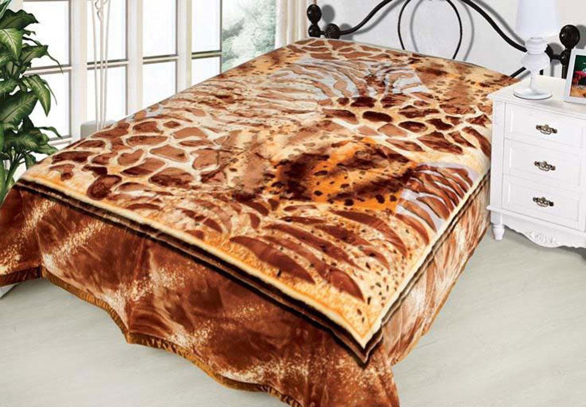 Плед Toledo, стриженый, цвет: коричневый, 200 х 240 см. 7608076080плотность 830 гр/м2
