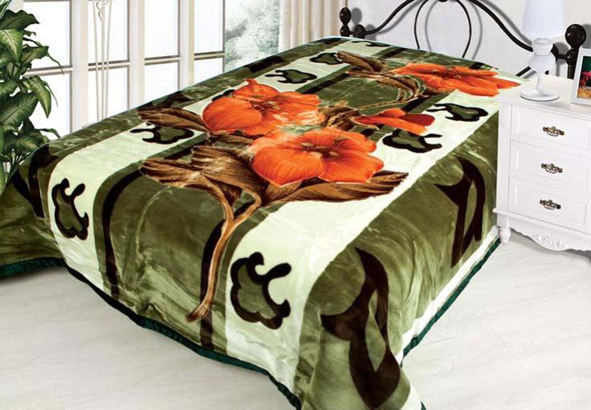 Плед Toledo, стриженый, цвет: зеленый, 200 х 240 см. 7608276082плотность 830 гр/м2