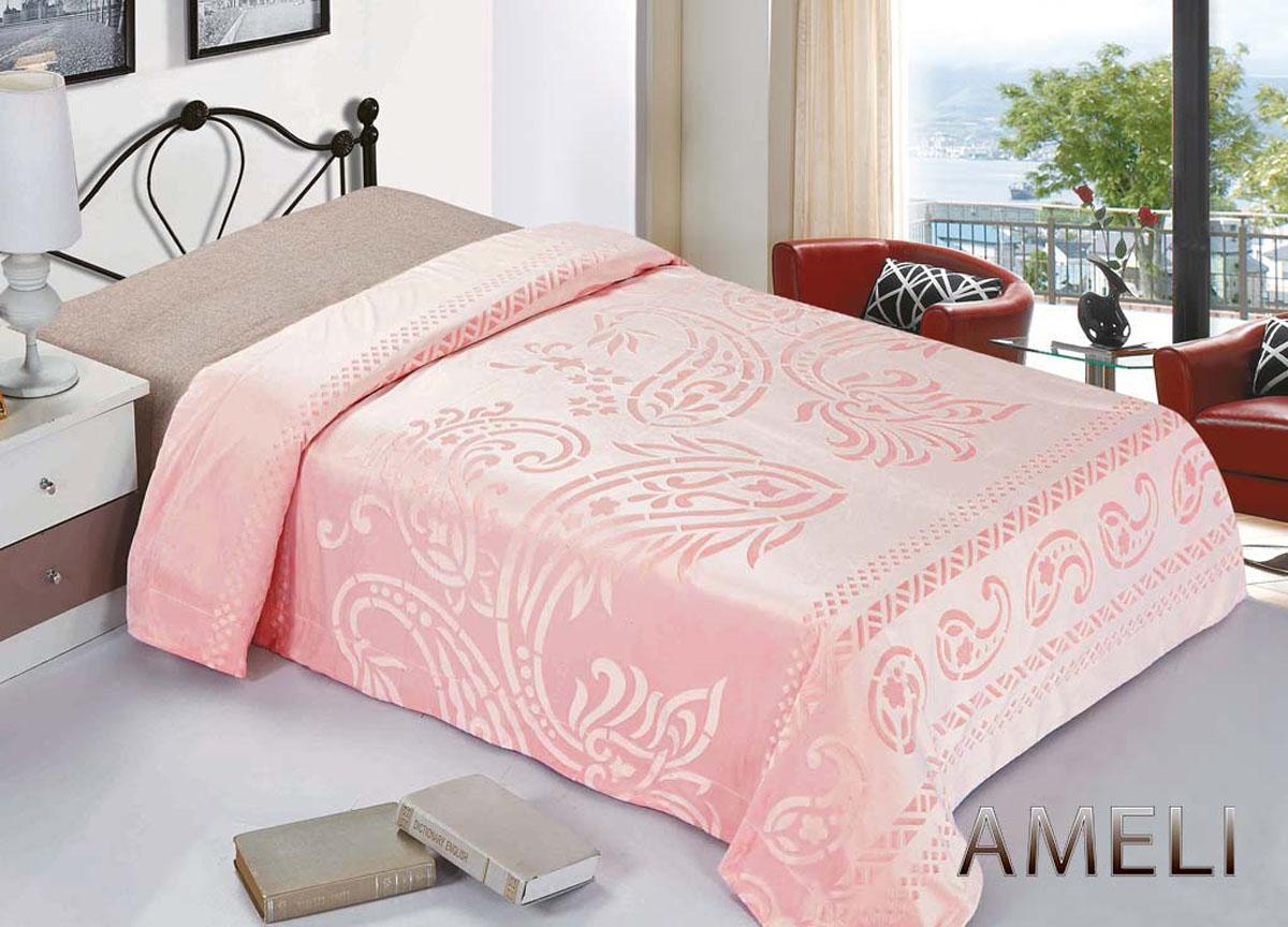 Плед Ameli, стриженый, цвет: розовый, 220 х 240 см. 7612276122плотность 380 гр/м2