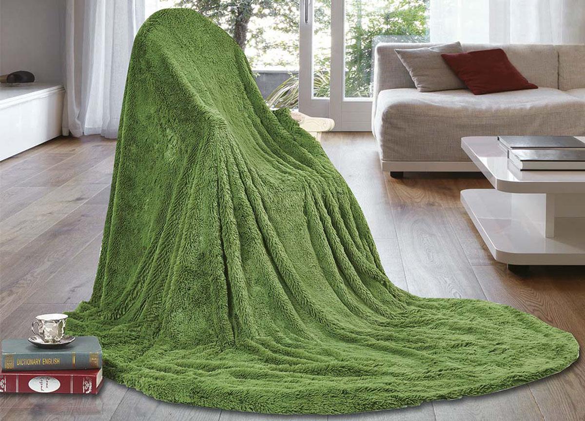 Плед Ameli, цвет: зеленый , 160 х 220 см. 7623676236плотность 510 гр/м2