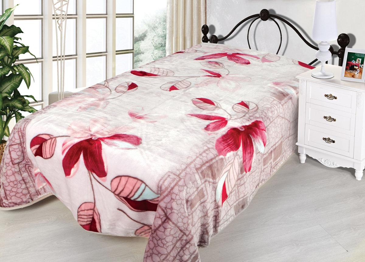 Плед Toledo, нестриженый, цвет: розовый, 160 х 210 см. 7809478094плотность 510 гр/м2