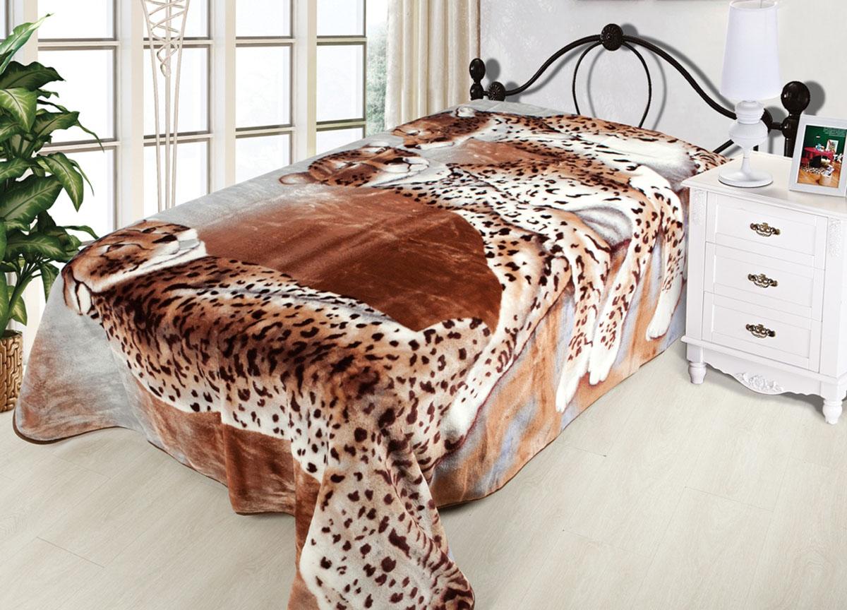 Плед Toledo, нестриженый, цвет: коричневый, 160 х 210 см. 7812478124плотность 510 гр/м2