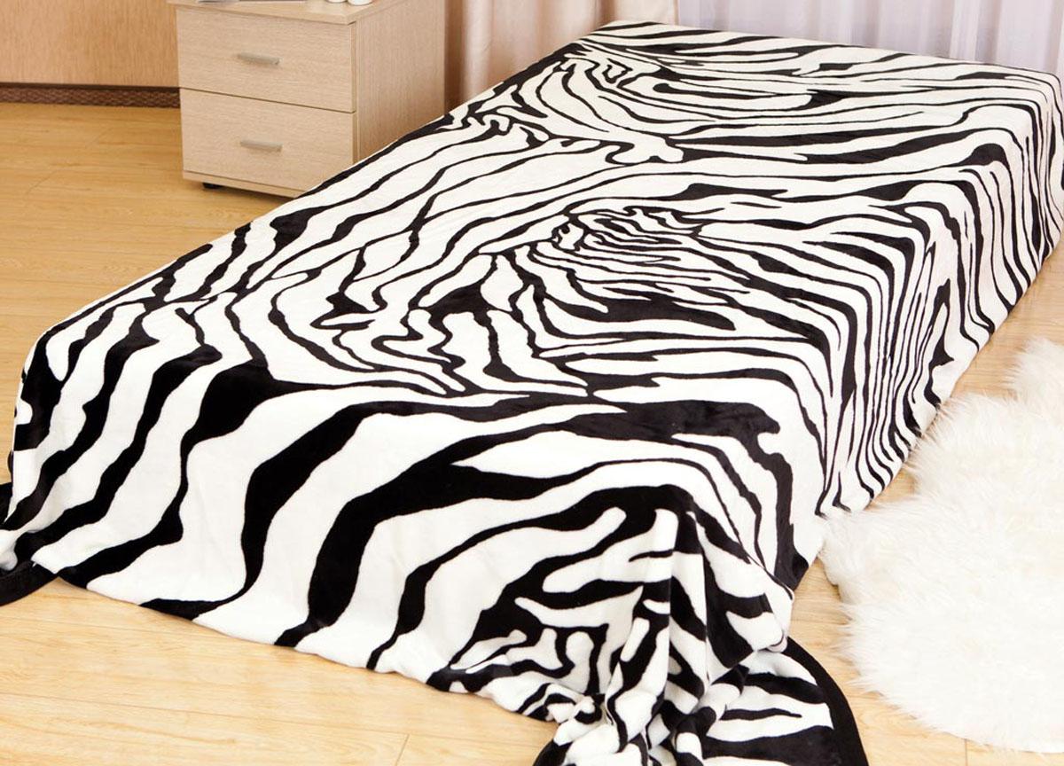 Плед Absolute, цвет: черный, белый, 200 х 240 см. 8177981779плотность 240 гр/м2