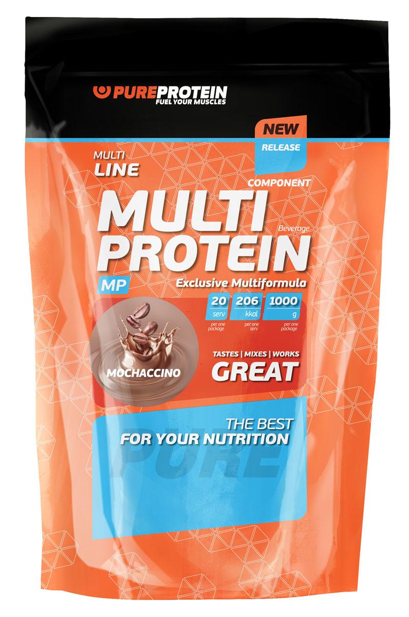 """Протеин многосоставной PureProtein """"Multi Line"""", моккачино, 1000 г"""