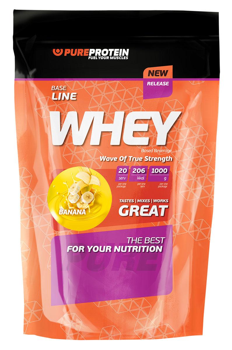 """Протеин сывороточный PureProtein """"Whey"""", банан, 1000 г"""