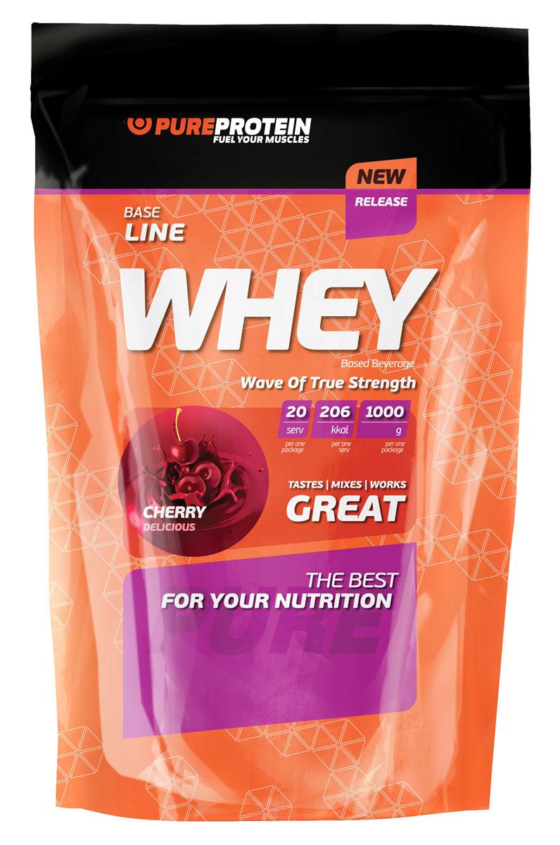 """Протеин сывороточный PureProtein """"Whey"""", вишневое наслаждение, 1000 г"""