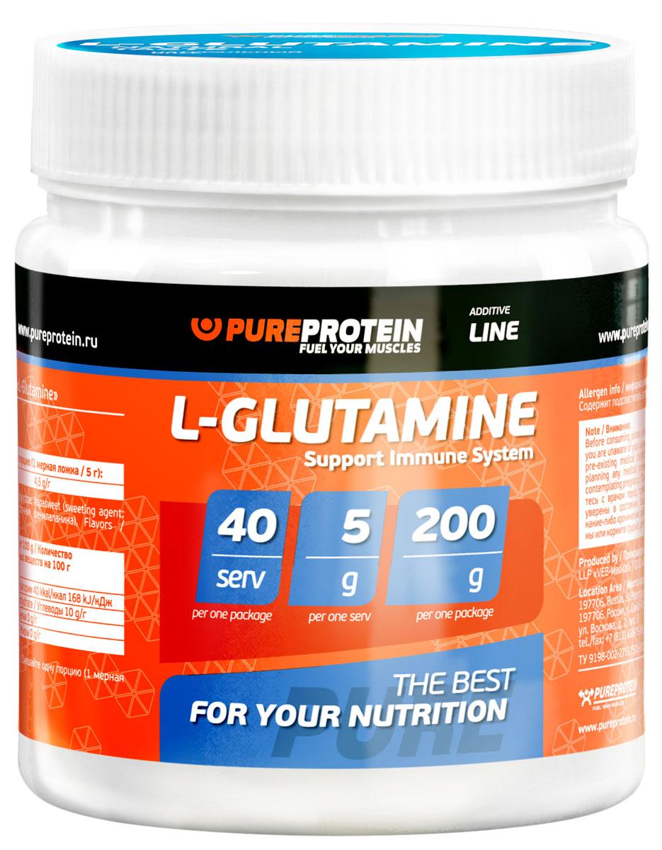 Глютамин PureProtein Additive Line, лимон, 200 г3610248Ингредиенты: glutamine, фруктоза, сукралоза (подсластитель), ароматизаторы, пищевой краситель. Товар сертифицирован.
