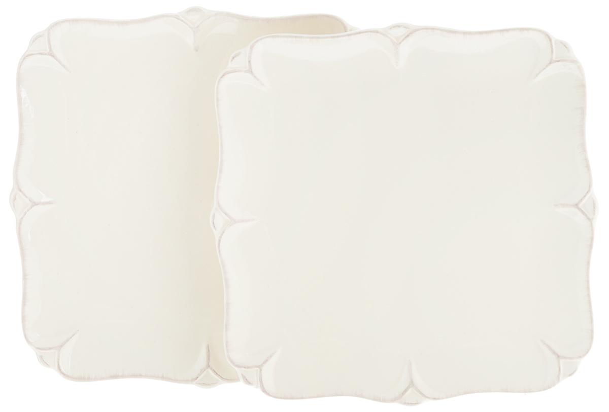 Набор тарелок Lillo Ideal, 20 х 20 см, 2 шт214208Набор Lillo Ideal состоит из 2 квадратных тарелок, выполненных из керамики. Изделия предназначены для красивой сервировки различных блюд. Набор сочетает в себе стильный дизайн с максимальной функциональностью. А оригинальность оформления придется по вкусу и ценителям классики, и тем, кто предпочитает утонченность и изящность. Размер тарелки: 20 х 20 х 2 см.