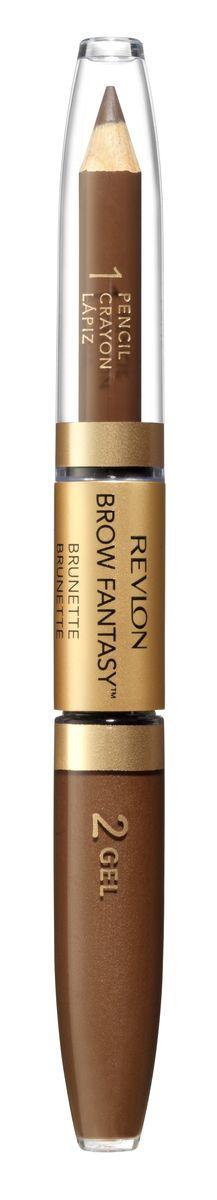 Revlon Карандаш И Гель для Бровей Colorstay Brow Fantasy Pencil & Gel Brunette 105 14 г7212842002Карандаш и гель для бровей Brow Fantasy окрашивает, оформляет и фиксирует форму бровей, в течение всего дня придавая им красивый и ухоженный вид. Хорошо пигментированный восковый карандаш и гель для укладки бровей. Супер-устойчивая формула для идеального результата. Благодаря этому уникальному и практичному средству вы создадите желаемый образ: акцентированную, чётко очерченную линию брови, или же мягкий и естественный вид.