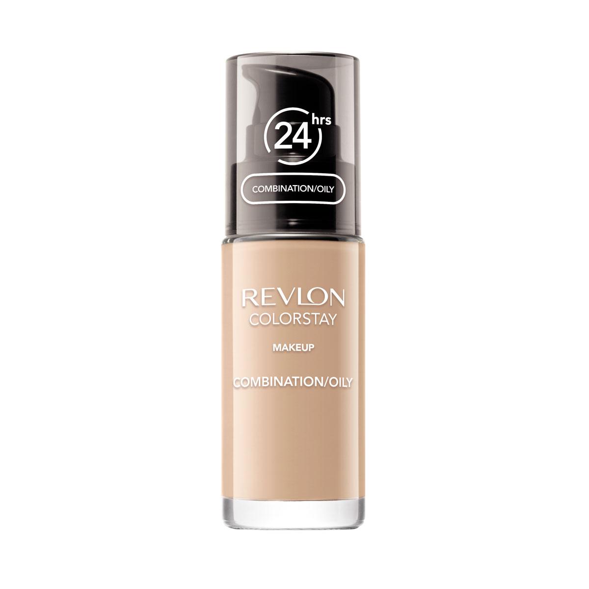 Revlon Тональный Крем для Комб-Жирн Кожи Colorstay Makeup For Combination-Oily Skin Fresh beige 250 30 мл7221552007Make Up For Combination / Oily Skin - тональный крем с удивительно легкой текстурой идеально выравнивает тон и рельеф кожи, защищает от появления жирного блеска. Colorstay дарит коже приятную матовость, сохраняет макияж безупречным надолго.Новая технология поддерживает баланс кожи, обеспечивая свежий и естественный вид. Продукт номер 1 по стойкости, обеспечивает идеальное покрытие в течение 24 часов без повторного нанесения! Предназначен для смешанной и жирной кожи.