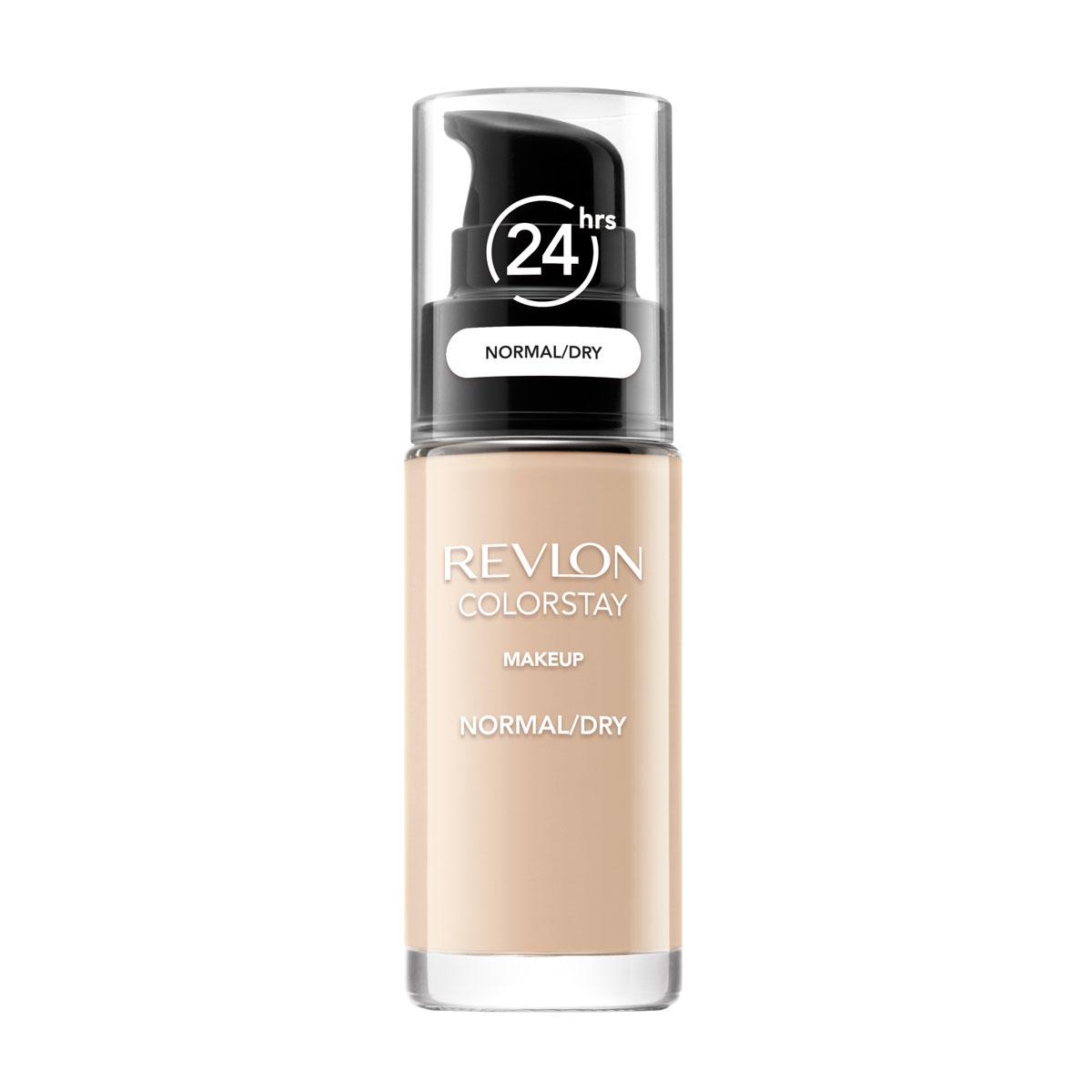 Revlon Тональный Крем для Норм-Сух Кожи Colorstay Makeup For Normal-Dry Skin Sand beige 180 30 мл7221553003Colorstay Make Up For Normal / Dry Skin - тональный крем с удивительно легкой текстурой идеально выравнивает тон и рельеф кожи, обеспечивая ей при этом должный уровень увлажнения. Colorstay дарит коже приятную матовость, сохраняет макияж безупречным надолго. Новая технология поддерживает баланс кожи, обеспечивая свежий и естественный вид. Продукт номер 1 по стойкости, обеспечивает идеальное покрытие в течение 24 часов без повторного нанесения!С SPF фактором. Предназначен для сухой и нормальной кожи.